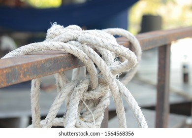 White twine tied with steel