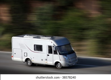 white van on highway