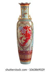 White Vases, Made of Ceramic,isolated