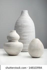 White Vases on a white surface