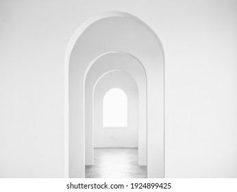 White Vault Building wall perspective Architecture details