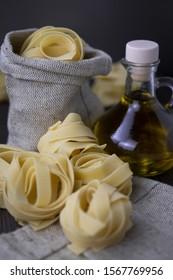 white vegetarian Italian pasta fresh
