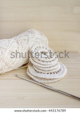 White Vintage Elements Irish Crochet Cotton Stock Photo Edit Now
