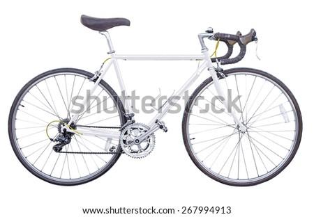c0b177c2cef White Vintage Road Bike Isolated Stock Photo (Edit Now) 267994913 ...