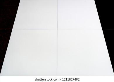 White vinyl tile flooring texture background