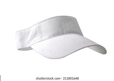 White visor on white background