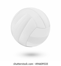 White Volleyball ball on a white background.