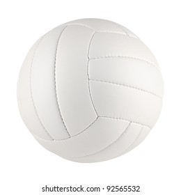 a white volleyball on white background
