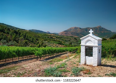 white Votive Shrine in Nemea Wine Roads, Greece
