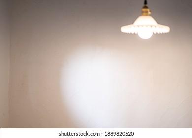 White wall background style and interior decorative design with Luxury beautiful retro edison light lamp decor