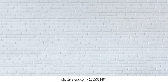 White wall background and texture, Pattern brick wall for backdrop