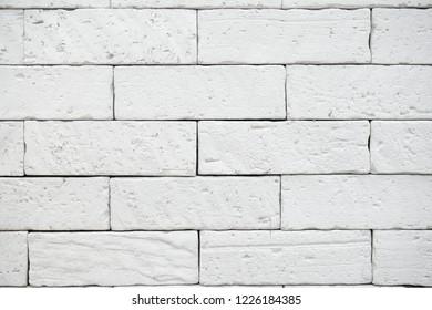 White wall brick stone background & texture