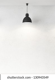 white wall and ceiling lamps