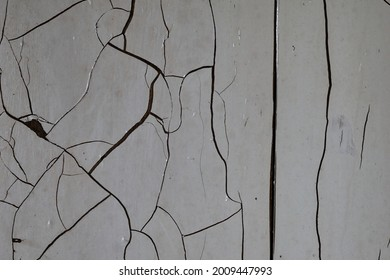 White wall with crack, texture background. High quality photo