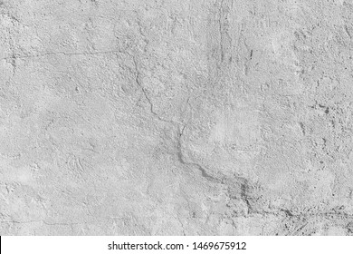 white wall cracks background / abstract white vintage background, texture old wall with cracks