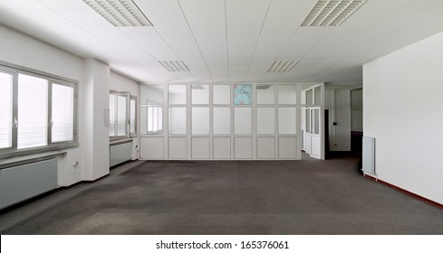 White wall empty office