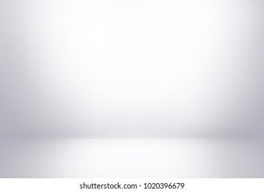 White wall in white room background with dark and light from spotlight on studio showcase wall and floor texture abstract illustration interior can use for background and product display