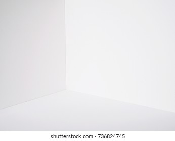 white wall room corner paper box model cutting artwork