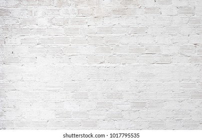 white wall texture background for  Old white brick wall rough surface.