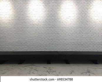 White wallpaper texture and granite floor