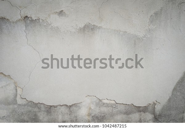 White walls cracking,old grungy texture, grey concrete wall,Texture grey concrete wall with cracks.