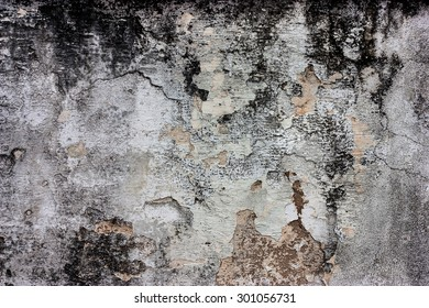 White walls are textured black dirt stains.
