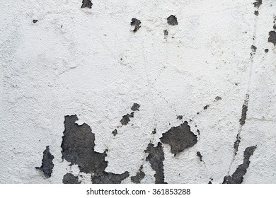 White walls are textured black dirt stains