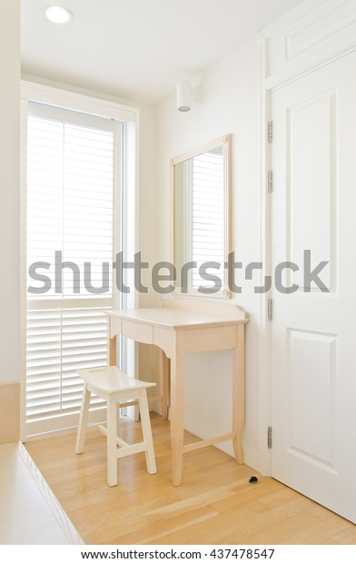 Remarkable White Warm Color Decoration Bedroom Interior Stock Photo Machost Co Dining Chair Design Ideas Machostcouk