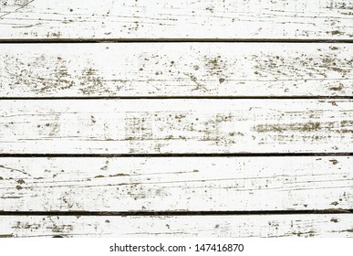 White washed planks
