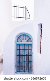 White washed roofs. Architecture of Santorini island Greece