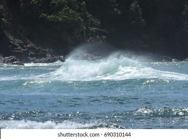 White Wave at the Atlantic Ocean, Dominica Island, Lesser Antilles