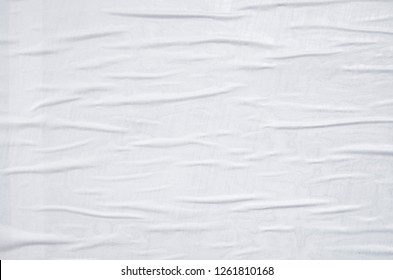 white waved wrinkled weathered poster texture wall