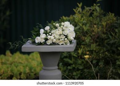 White wedding bouquet.