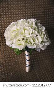 White wedding bouquets.
