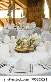 white wedding table with flowers