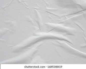 White wet crumpled paper texture background