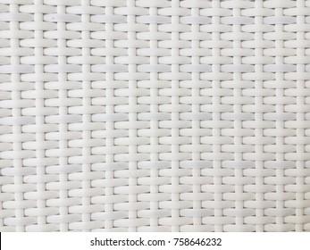 White wicker chair pattern background