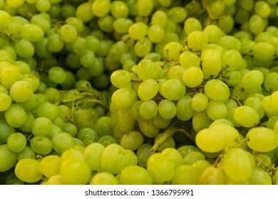 White wine grapes. Raw fruit background.