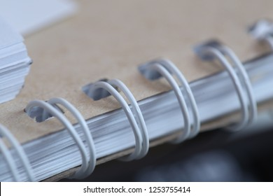 white wire for book binding