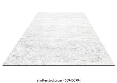 White wood plank texture for background on white background with clipping path.