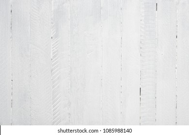 White wood texture background flat lay