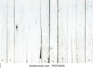 white wood texture background or old white wood panel