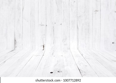 white wood texture and background for pattern design artwork.
