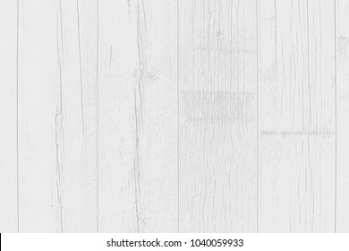 White wood texture of fence from aged planks. Grayscale abstract background. Rustic wood wall.
