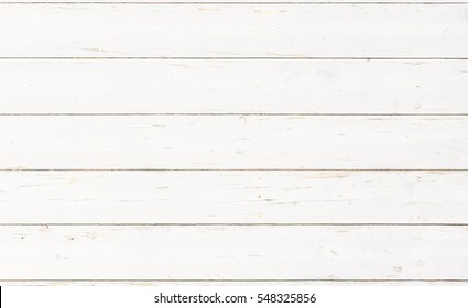 White wooden boards background texture.