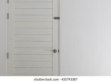 White wooden door background