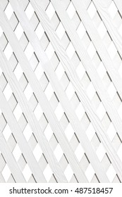 white wooden lattice