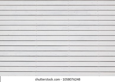 White Wooden Plank Paneling With Horizontal Pattern Seamless Background Or Texture