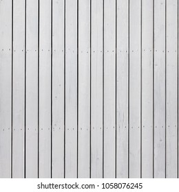 White Wooden Plank Paneling With Vertical Pattern Seamless Frame Background Or Square Texture