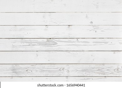White wooden planks texture for your design. Shabby chic background. Vintage white wood texture backdrop.